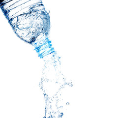 Bottle with water splash.