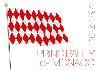 principality of monaco historical flag, europe