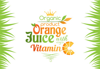 Orange juice with vitamin C banner