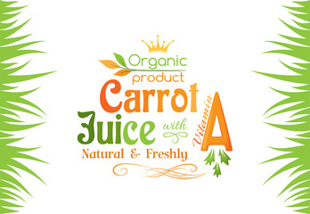 Carrot juice with vitamin A banner