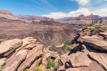 View of Colorado river from Plateau Point, Grand Canyon National Park, Arizona, Usa