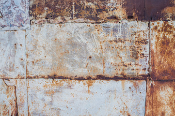 Old metal background with rust