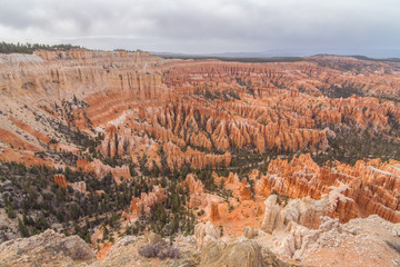 Scenic view of Bryce Canyon National Park at sunset, Utah, Usa