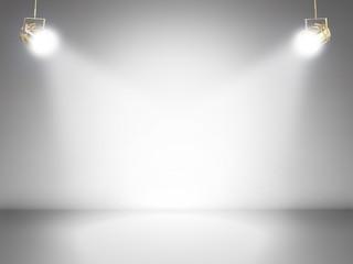 Aluminium Prints Light, shadow blank stage with shining lights