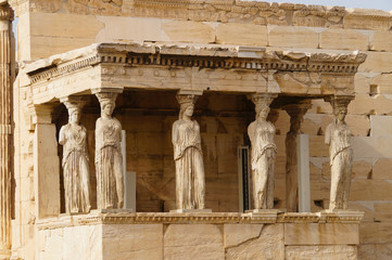 Keuken foto achterwand Athene Caryatides, Erehtheio, Acropolis,Athens, Greece