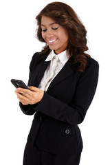 Business woman using a cellphone
