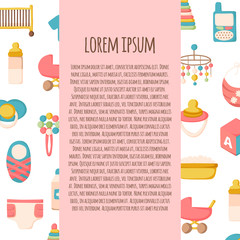 Vector newborn goods background