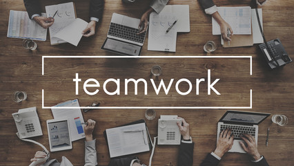 Teamwork Team Collaboration Connection Unity Concept
