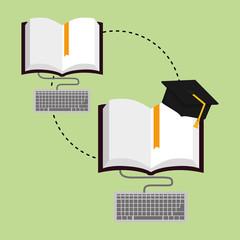 Flat illustration about graduation design