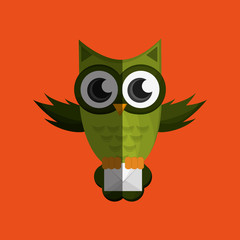 Vector illustration of an Owl, graphic design, animal represent knowledge
