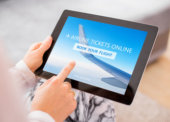 Buying airline tickets on tablet computer
