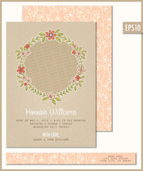Birth Announcement Flat Card Template