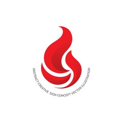 Flame - vector logo concept illustration. Red fire sign. Fireball creative sign. Vector logo template. Design element.