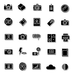 Camera Beautiful icon set