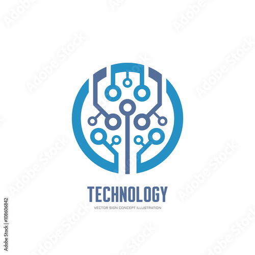 quottechnology vector logo concept illustration for