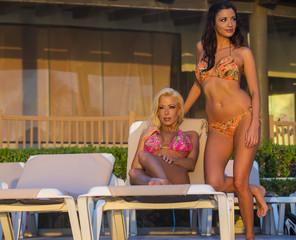 Bikini Models At Sunrise