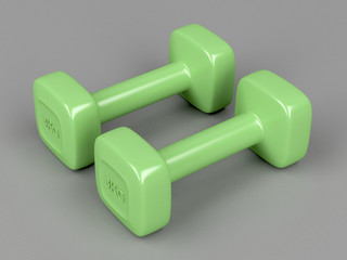 Pair of 3 kg dumbbells