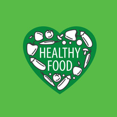 vector logo healthy eating