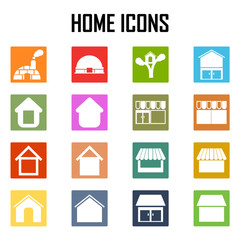 Vector home icons