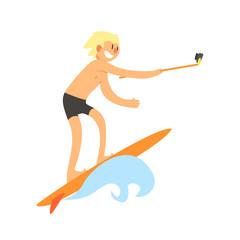 Surfer Taking Selfie