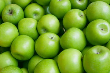 Green apple. Background.