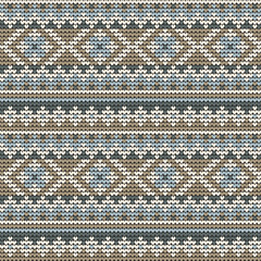 Knitted seamless pattern in vector.