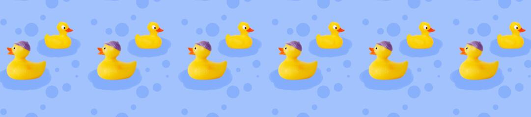 header duck tale pattern yellow rubber