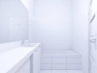 3d illustration of interior design bathroom
