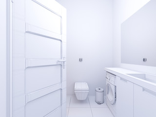 3d illustration of interior design bathroom