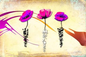 Vintage flower art illustration