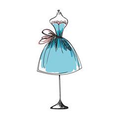 dummy dress hand drawing illustration vector