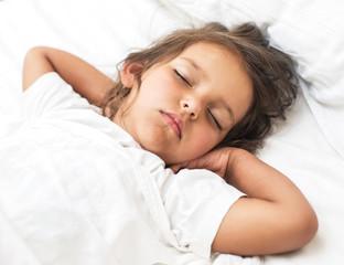 Sleeping kid girl.