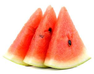 Watermelon slices  on white background