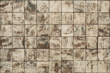 Old wall ceramic tiles patterns handcraft from thailand parks pu