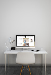 clean workspace with celebrity blog website