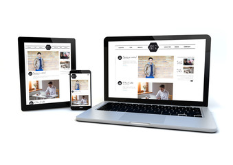 responsive design concept blog fashion