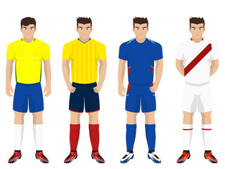 Set of National Team Kit for American Football / Soccer Competition Group B