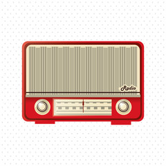 colorful retro radio design, vector illustration