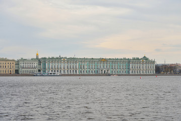 View of the Hermitage and Neva river.