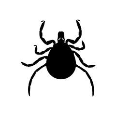 Mite black silhouette