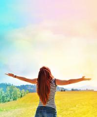 Free happy woman