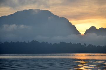 Twilight at Khao Sok National Park