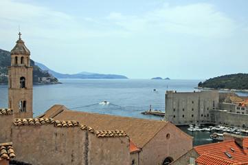 Dubrovnik, Klosterturm und Hafen Altstadt
