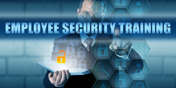 HR Director Pressing EMPLOYEE SECURITY TRAINING
