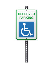 Handicap Reserved Parking Sign