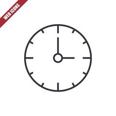 Thin line clock icon