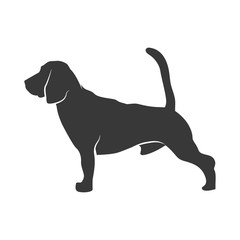 silhouette of the dog - beagle. Vector Illustration