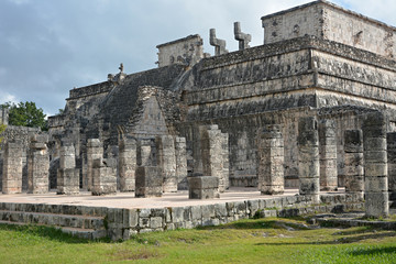 The Governor's Palace (a thousand columns). Mayan archeological site of Chichen Itza.
