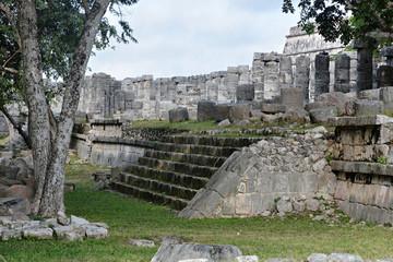 Ruins in Mayan archeological site of Chichen Itza.