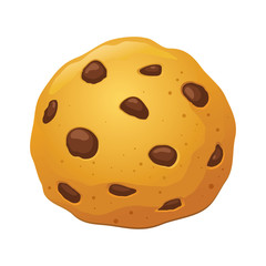 Chocolate Chip Cookies Vector Illustration
